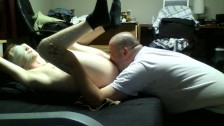 Eating and rimming tied up straight boy