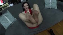 Carolines Pantyhose jerk off Instruction