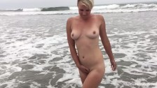 Spunky Strips and Plays with Wet Pussy in Ocean Outdoor Sex Adventure #12