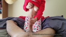 Good Morning my curvy college teen in christmas pijama Made in Canarias