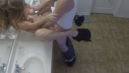 Blond fucked from behind lses controll - Thick girl fucked on the counter from front and behind