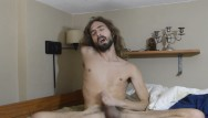 Long haired twink jacks off Putting in my buttplug and jacking off before tasting my cum