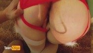 Christmas ideas for teens Hot creampie in the hotel pov for christmas.