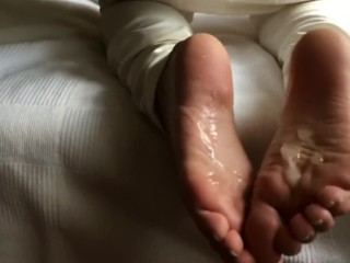Jerk Off To My Feet. Footjob Cumshot Compilation. Cum On Feet, Soles, Toes