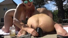 anal training toy outside then fucking siouxsie Q outside till cum