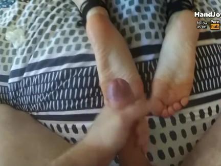 HandJoy * Best foot fetish cumshot compilation ever! *