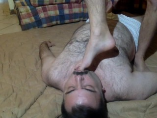 Come on slave – lick my feet –
