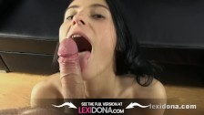 Lexidona - Brunette pornstar sucks her cameraman in home made pov movie