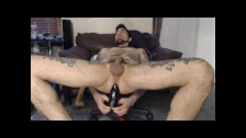 Stud pleasing his hole and working up to Big Juicy dripping rosebud