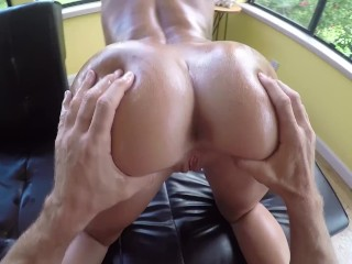 SinsLife – Oiled Up Booty Twerks and Takes Huge Dick!