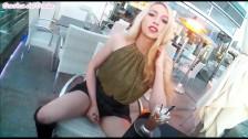 Cumming in Restaurant - Public Whore Sasha de Sade