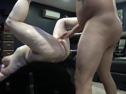 Master Punishes & Fist Slave