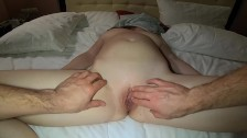 Romantic Oily Ginger Teen Massage Turns in Sensual Orgasmic Pussy Fingering