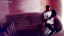 SAUNA MATURE DADDY FUCKS BOY BAREBACK - OLDER YOUNGER