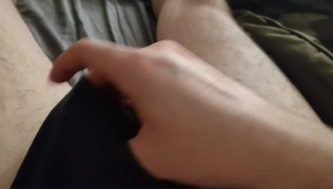 Hot White Twink Shows Off His Hot Uncut Dick - Edging and Cumshot