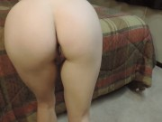 naughty tease gets thick cum load on her ass