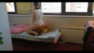 Female dog breast Horny schoolgirl very loves her dog. cute orgasm. 4k uhd