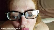Glasses Cumshot After Hard Face Fuck - Shortcake