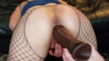 Queefing while my pussy is stretched and fucked with several dildos