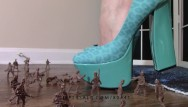 Scruch bottom - Crush fetish: giantess goddess lucy crushes army men with heels lucywants