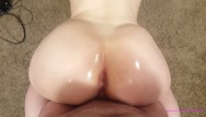 Your ass for a white girl - Pov big white ass twerking on your dick cum volcano