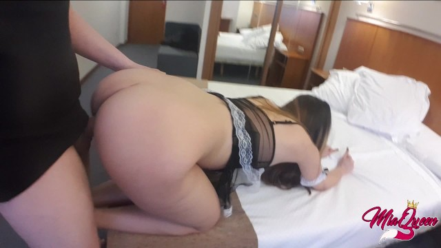The best Hotel Room Service Ever  ANAL CREAMPIE to Latin Girl #Roleplay2018