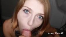 Arwen Datnoid Eye Contact Blowjob Swallow