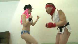 Norah Nova Street Fighter Ball Busting