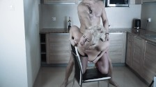 Cheating Wife fucks with next door neighbor. Rough sex in the kitchen