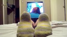Goth girl dirty socks ignore