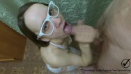 Sexy white bra All in white blowjob and bra titfuck white glasses,stockings, bra