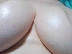 Close Up Big Beautiful Natural Titties Juggling And Getting Played With