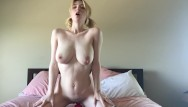 Riding dildo blow doll Teen rides dildo