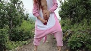 Free adult furry pics Risky public dildo fuck in a furry onsie freckledred