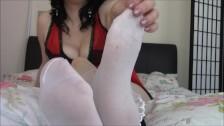 Sniff My Stinky Socks Foot Bitch - Bratty Foot Goddess Amy Wynters