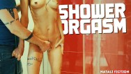 Having in sex shower My boyfriend makes me have several orgasms in the shower - natali fiction