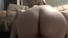 Massive ass sucks and rides cock