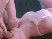 Young couple having a simultaneous orgasm