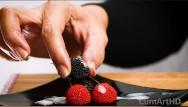 Foods to eat to make penis larger Cfnm handjob cum on candy berries cum on food 3
