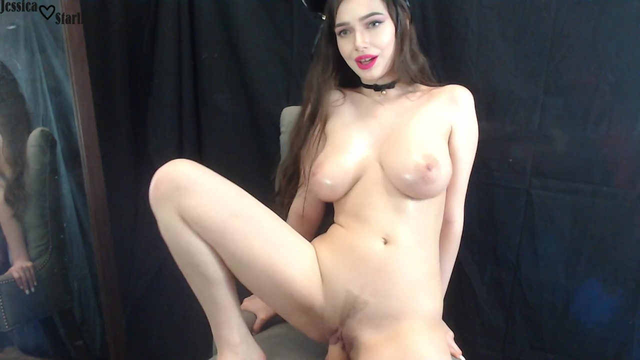Cute Kitty With Big Tits Fucks And Rides Dildo On Cam -3964