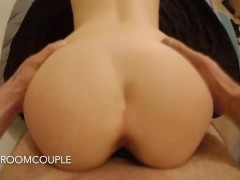 AMATEUR PAWG TAKES HUGE DICK / CREAM PIE