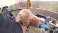 Lift breasts 4k public bj and anal creampie in ski lift and lot of fuck in mountain hike
