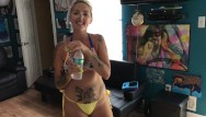 Teenage nudist at home - Dirty talking slut wife comes home horny from meeting hot teenagers at pool