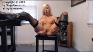 Of sexy boots Blonde teen talks dirty and masturbates for you in sexy boots