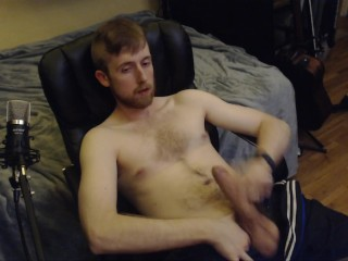 HOT STUD JERK OFF AND CUM! CAM MODEL BIG UNCUT DICK CANADIAN CAMBOY SHOW