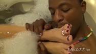Amateur creampie leilani - Milf enjoys spa tub fun with her bbc lover