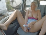 Public Car Masturbation and SQUIRTING orgasm on crowded highway.