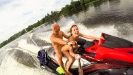 Alpine ski tunnel bottom Public anal ride on the jet ski in the city centre. mia bandini