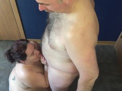 Horny Wifey Deep Throats Spouses Uncircumcised Man-meat - He Gushes On Her Face 9 Globs Hd