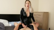 Swinging choke with bleeder resistor - 3 huge riding orgasms being choked from catsuit goddess